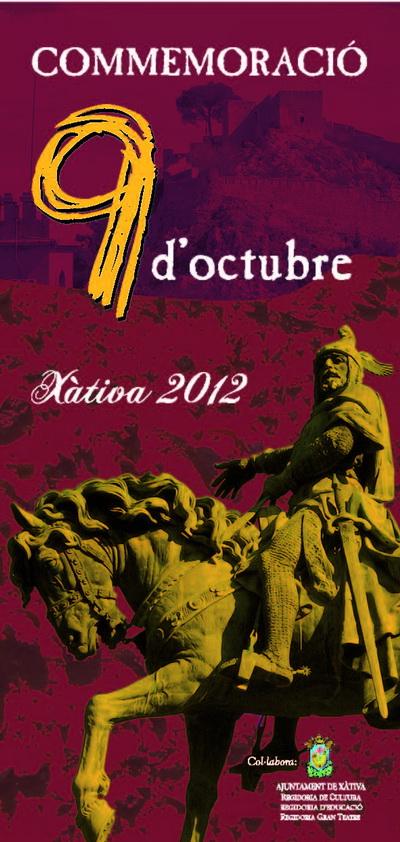 Programa d actes commemoratius del 9 d octubre a x tiva for Pisos xativa 9 d octubre xativa