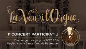 La 1ª edició del concert participatiu La Veu i l'Orgue comptarà amb quasi 80veus